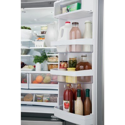 organized refrigerator with healthy food