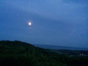 Night Mountain Scene