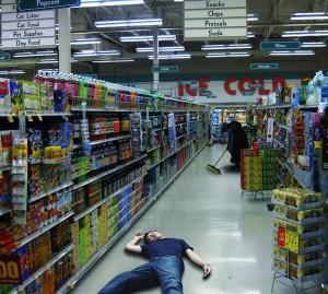 "<img src=""image.gif"" alt=""a grocery aisle"" />"